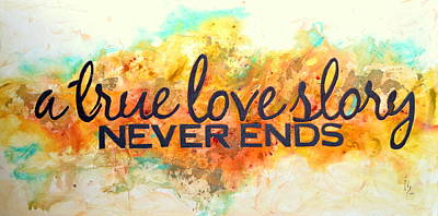 Surrealistic Painting - A Love Story Never Ends by Ivan Guaderrama