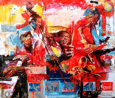 John Coltrane Painting - A Love Supreme by Massimo Chioccia and Olga Tsarkova