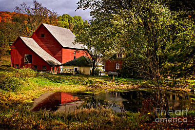 Pomfret Photograph - Lovely Sherburne Farm In North Pomfret Vermont  by Priscilla Burgers