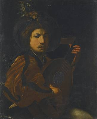A Lute Player Art Print by Celestial Images