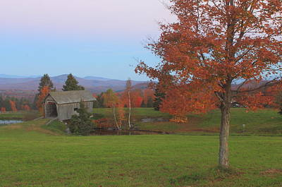 Photograph - A M Foster Covered Bridge Cabot Vermont by John Burk