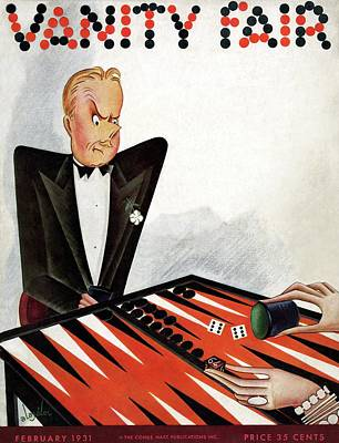 Backgammon Photograph - A Magazine Cover For Vanity Fair by Constantin Alajalov