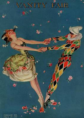 Dance Photograph - A Magazine Cover For Vanity Fair Of A Ballet by Frank X. Leyendecker