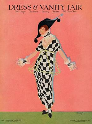 Embellished Photograph - A Magazine Cover For Vanity Fair Of A Woman by Helen Dryden
