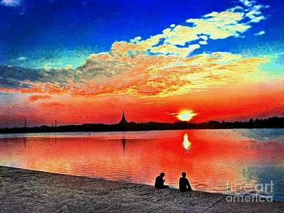 Digital Art - A Magic Sunset by Ian Gledhill