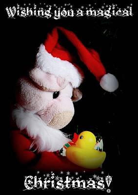 A Magical Christmas Art Print by Piggy