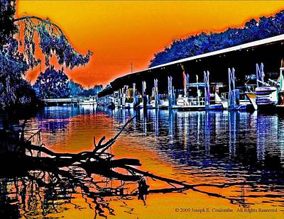 Digital Art - A Magical Delta Sunset by Joseph Coulombe