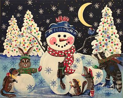 Painting - A Magical Night In The Snow by Jennifer Lake