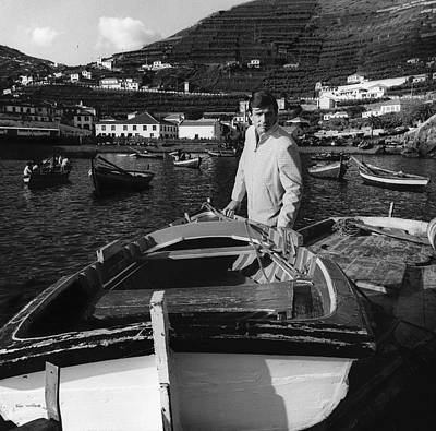 Photograph - A Male Model At The Harbor Of Camara De Lobos by Leonard Nones