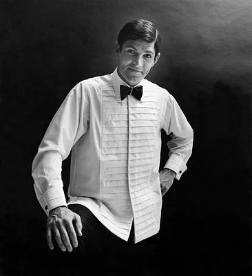 Photograph - A Male Model In A Cross-pleated Shirt And Black by Leonard Nones