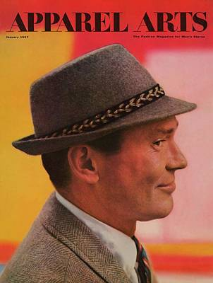 Photograph - A Male Model In A Gray Hat by Richard Litwin