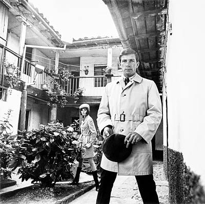 A Male Model Wearing A Trench Coat Art Print