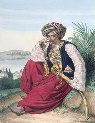 A Mameluke Or Slave Soldier, Engraved Art Print by Louis Dupre