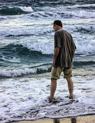 Photograph - a Man and the Sea by Ginette Callaway