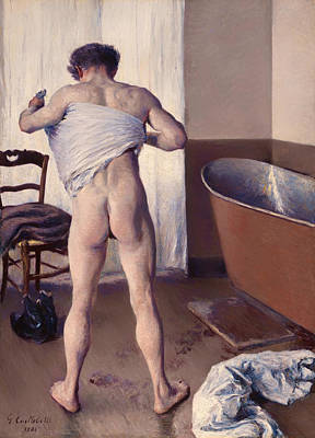 A Man At His Bath Art Print by Mountain Dreams