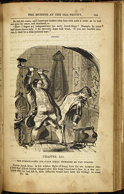 Ada Photograph - A Man Murdering Another With An Axe by British Library