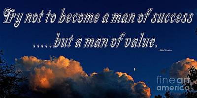 A Man Of Value Art Print by Barbara Griffin