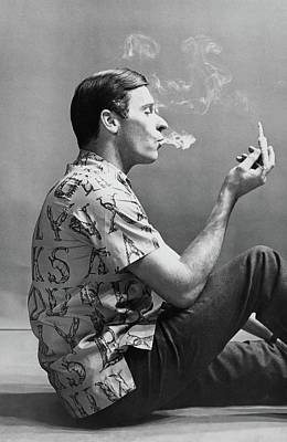 Photograph - A Man Smoking by Emme Gene Hall