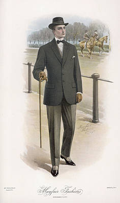 Hyde Park Drawing - A Man Strolling In Hyde Park's  Rotten by Mary Evans Picture Library