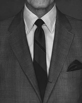 Fashion Photograph - A Man Wearing A Suit by Peter Scolamiero