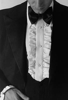 Photograph - A Man Wearing A Tuxedo by Peter Levy