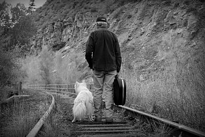 Layla Photograph - A Man With A Guitar And His Best Friend by Fiona Kennard