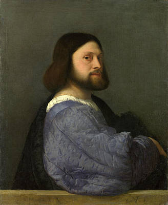 Quilts For Sale Painting - A Man With A Quilted Sleeve by Titian