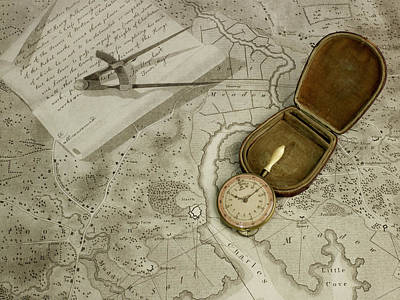 A Map Meter A Dial Map Measurer Art Print