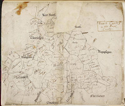 A Map Of 'foxis Cuntry' Art Print by British Library