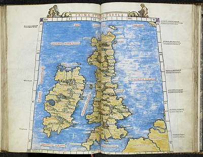 Ptolemy Photograph - A Map Of Great Britain And Ireland by British Library