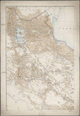 Cartography Photograph - A Map Of Persia by British Library