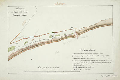 Cartography Photograph - A Map Of The Chilka Lake by British Library