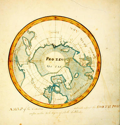 Country Painting - A Map Of The Countries Situate About The North Pole As Far As The 50th Degree Of North Latitude by MotionAge Designs