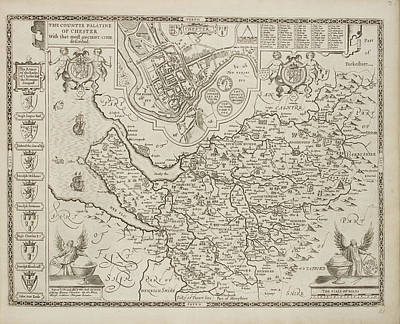 A Map Of The County Of Cheshire Art Print