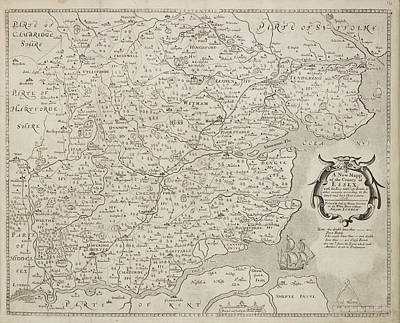 A Map Of The County Of Essex Art Print by British Library