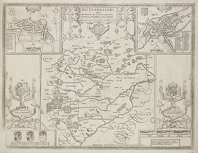 A Map Of The County Of Rutlandshire Art Print by British Library