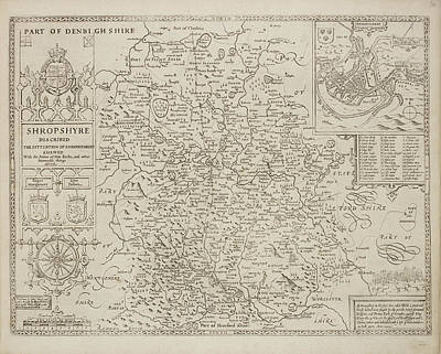 A Map Of The County Of Shropshire Art Print by British Library