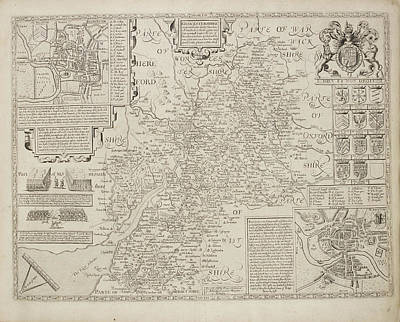 A Map Of The River Thames Art Print by British Library