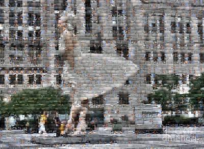 A Marilyn Mosaic Art Print by David Bearden