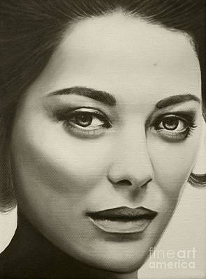 A Mark Of Beauty - Marion Cotillard Art Print by Malinda Prudhomme