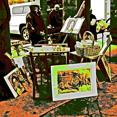 Photograph - A Market Place 4 Artists  by Joseph Coulombe