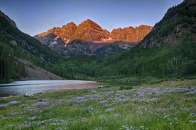 Photograph - A Maroon Morning - Maroon Bells by Photography  By Sai