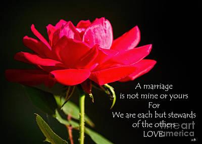 Photograph - A Marriage by Sandra Clark