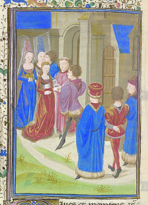 A Marriage Scene Art Print by British Library
