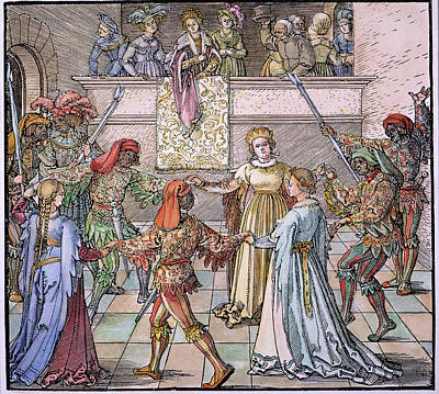 A Masquerade Art Print by Granger