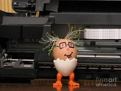 Photograph - A Master By The Printer. Eggmen Series by Ausra Huntington nee Paulauskaite