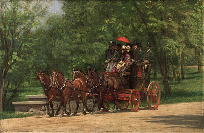 A May Morning In The Park. The Fairman Rogers Four-in-hand  Art Print