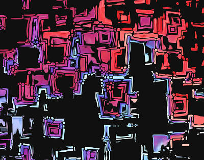 A Maze Zing - 01c07a Art Print by Variance Collections