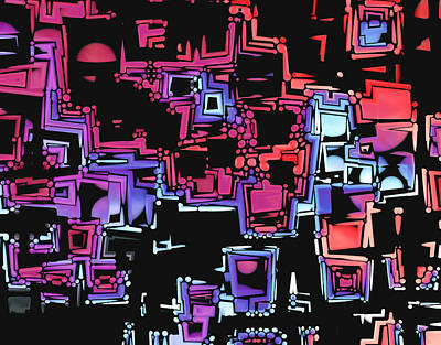 Multicolored Digital Art - A Maze Zing - 03c07 by Variance Collections