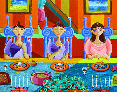 Table Painting - A Meal Without Rice by Paul Hilario